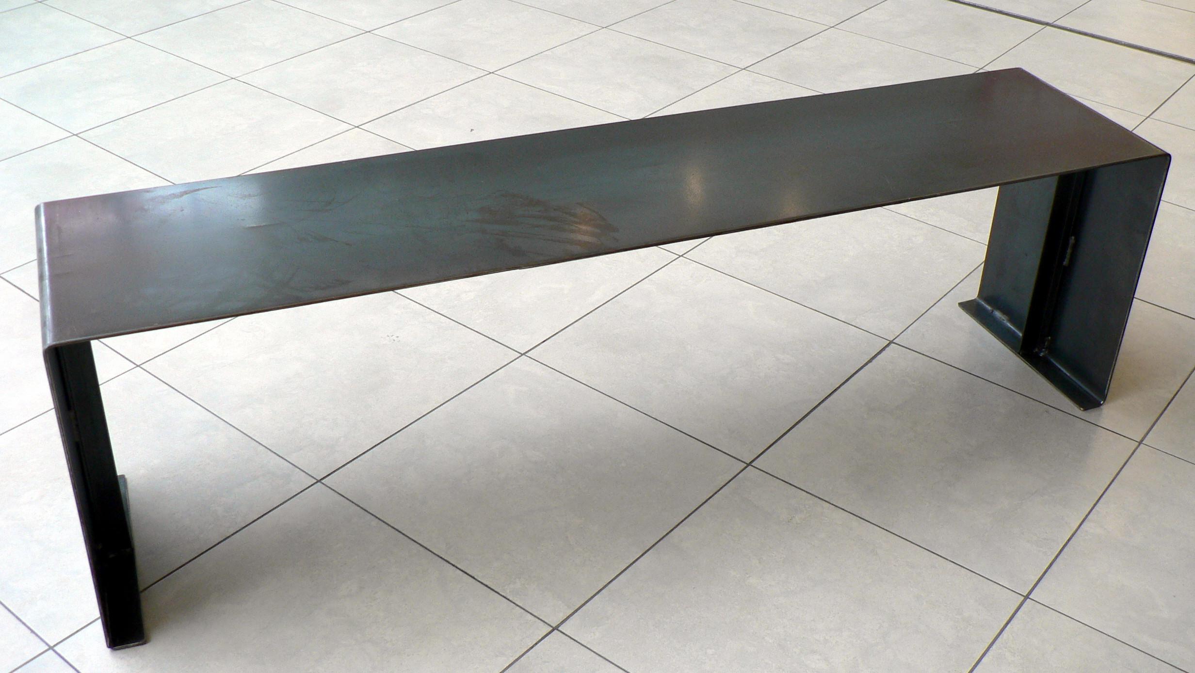 made to measure steel bench. Black Bedroom Furniture Sets. Home Design Ideas