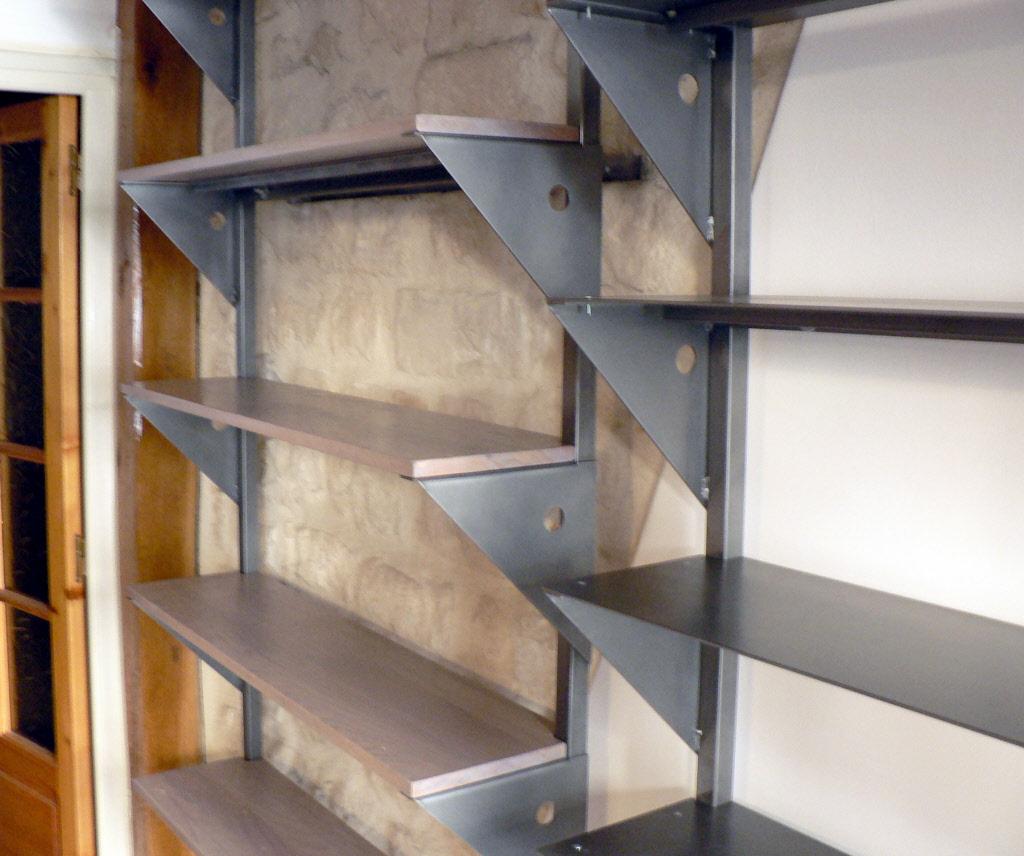 Etagere Sur Mesure Paris créations de bibliothèques sur mesure en metal, acier et