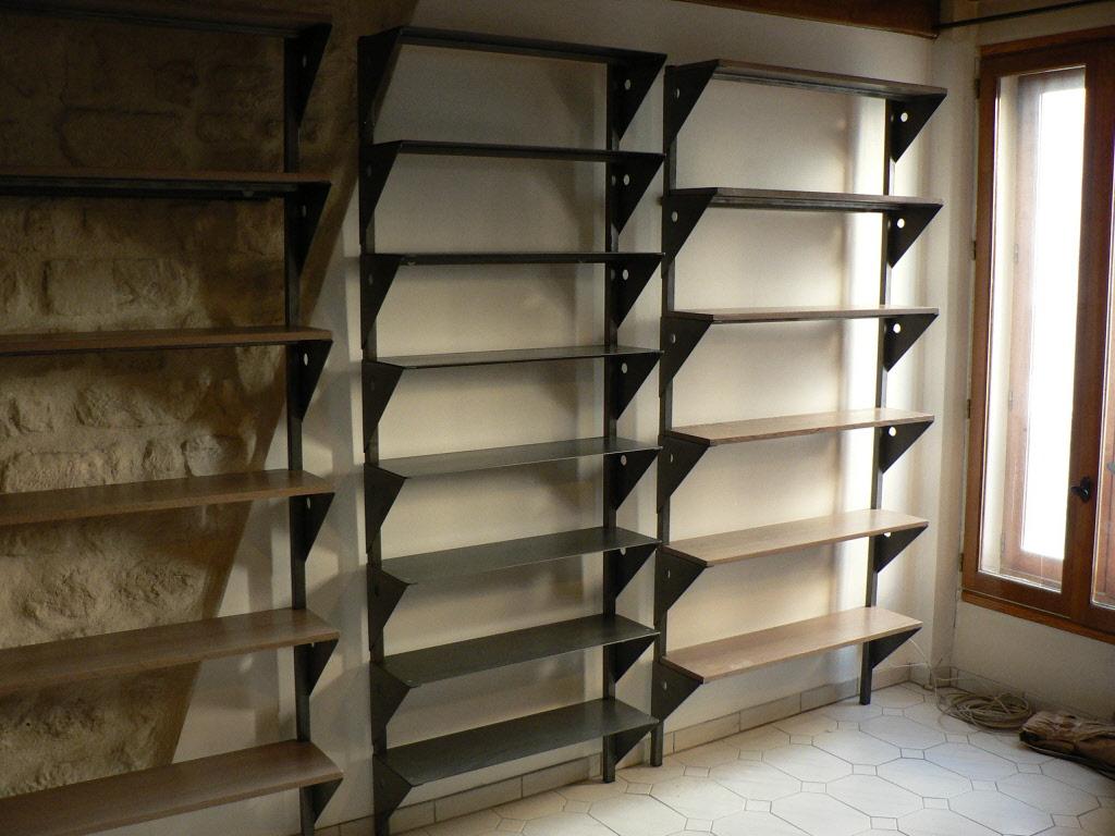 Biblioth que bois et m tal id e int ressante pour la conception de meubles en bois qui inspire - Model de biblioth u00e8que en bois ...