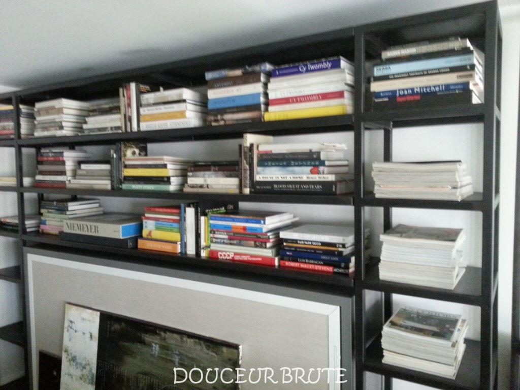 biblioth ques en metal acier et bois patin. Black Bedroom Furniture Sets. Home Design Ideas