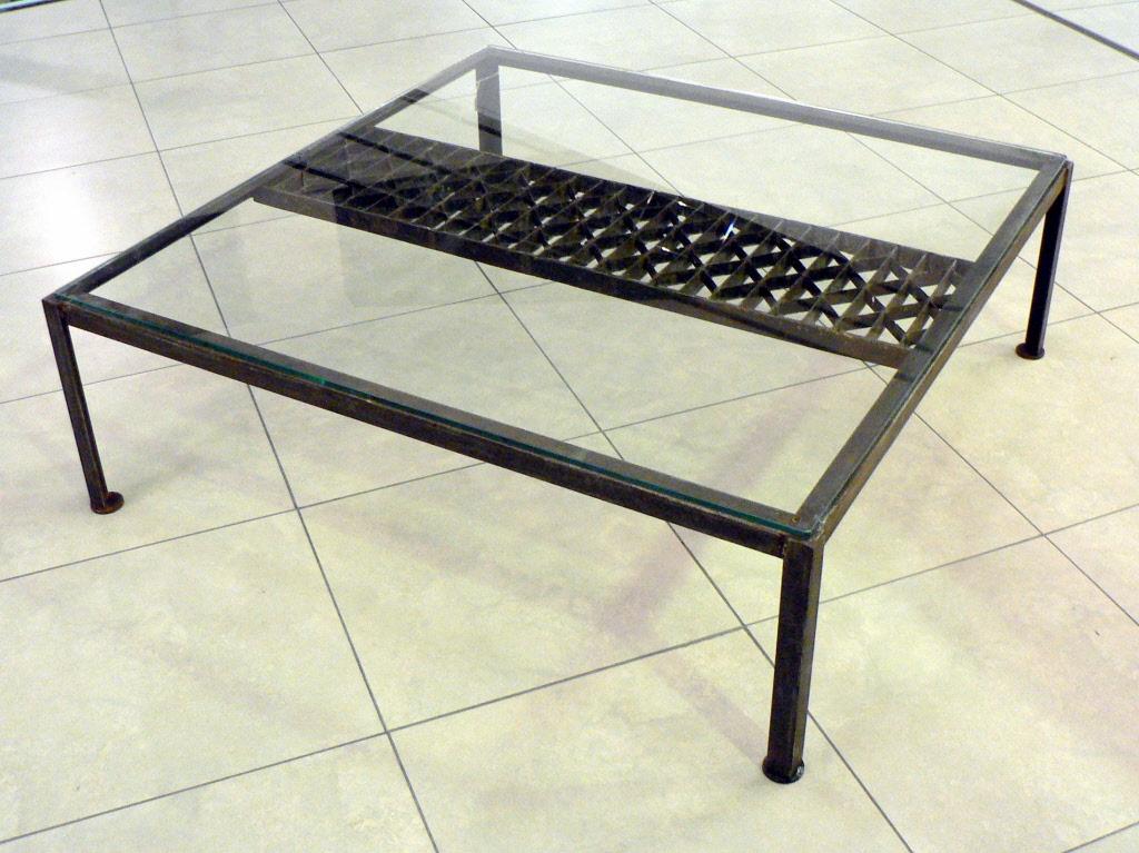 tables de salon tables basses metal design loft. Black Bedroom Furniture Sets. Home Design Ideas