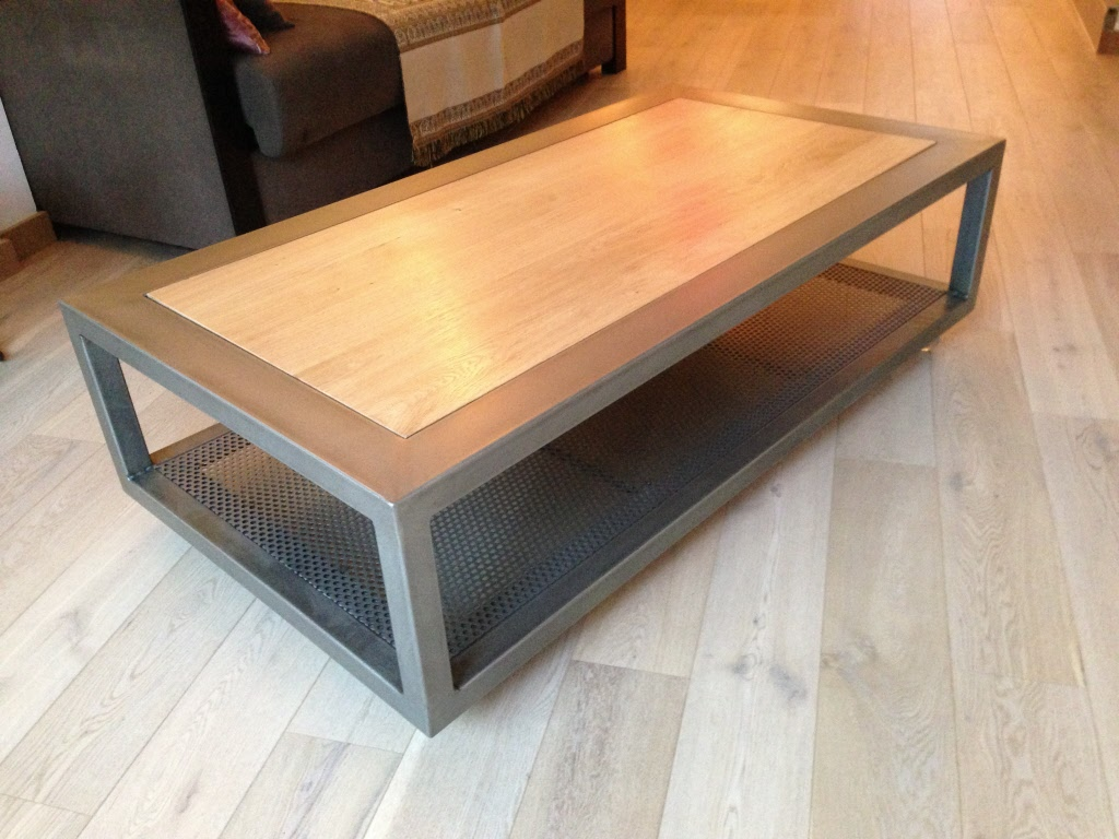 Tables de salon tables basses metal design loft - Table salon bois metal ...