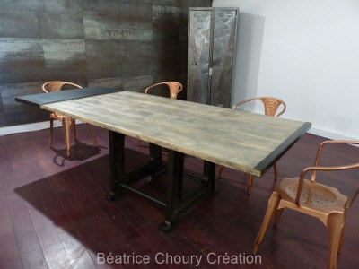 meuble m tal tables m talliques cr ateur de meubles sur mesure douceur brute. Black Bedroom Furniture Sets. Home Design Ideas