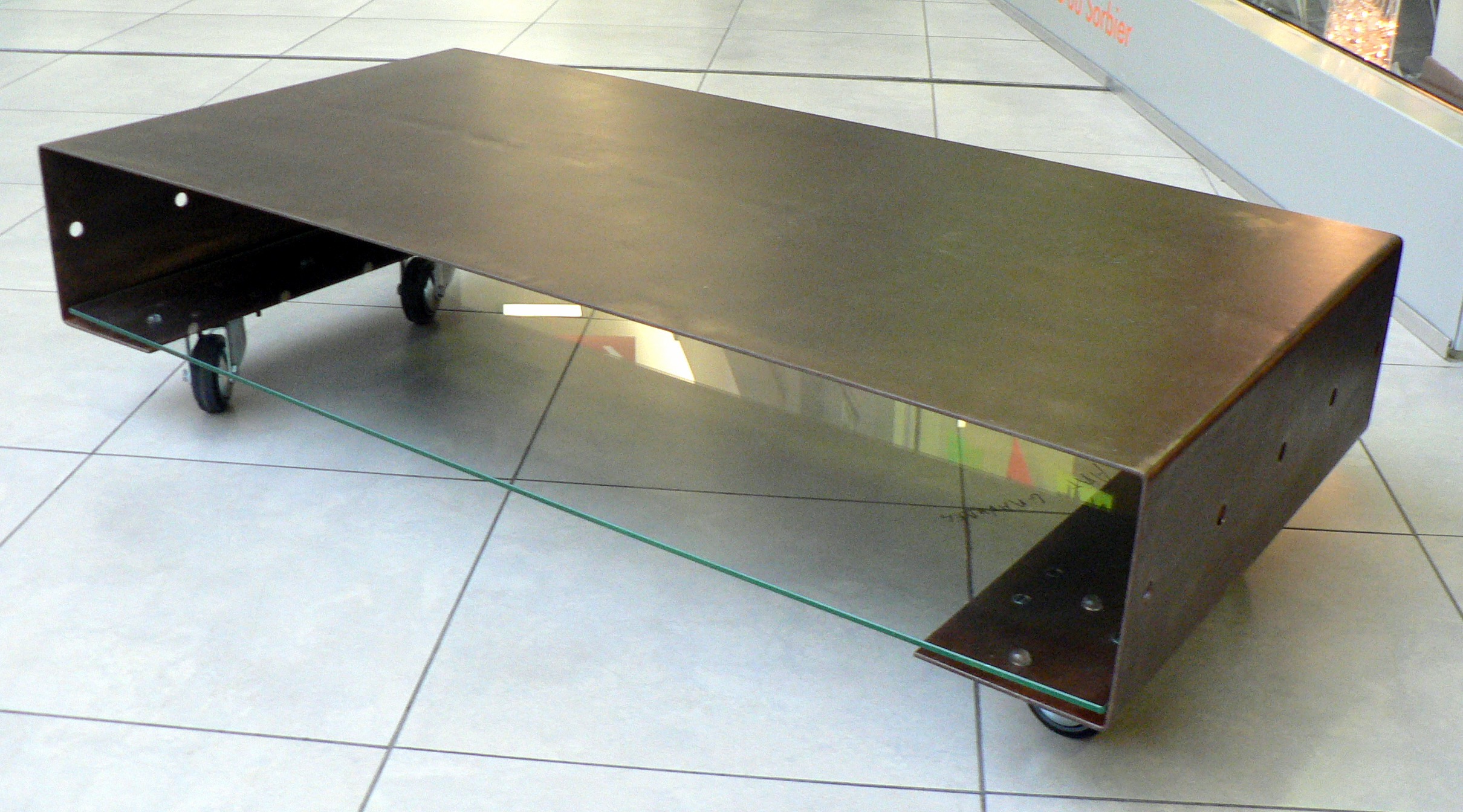 Table basse metal et verre ikea - Customiser table basse ...
