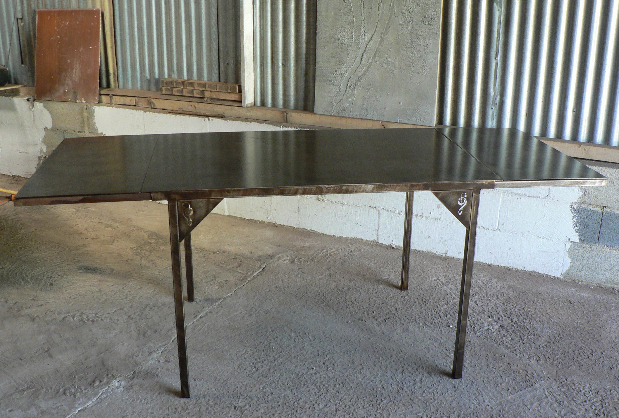 table repas metal avec allonges - Table De Repas Avec Rallonge